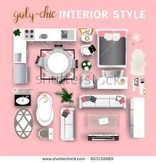 set top view interior modern interior stock vector 603158966