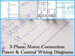 three phase motor power u0026 control wiring diagrams 3 phase motor