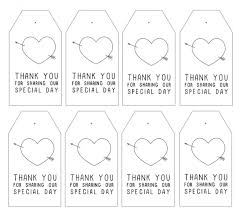 Thank You Tags Wedding Favors Templates by Wedding Gift Tags Printable Lading For