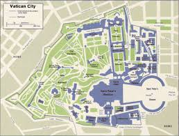Map Rome Map Of Vatican City State Within The City Of Rome Nations Online