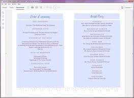 Sample Wedding Programs Outline Printable Wedding Program Templates
