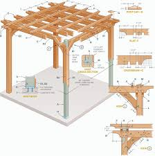 Attached Pergola Plans by How To Build A Pergola Step By Step Diy Building A Pergola
