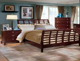 Sled Bed Frame Feel Ultimate Comfort With Cherry Wood Sleigh Bed Series Homesfeed