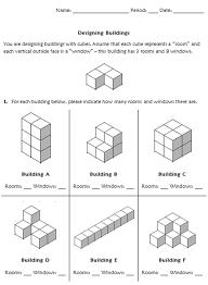 volume of cubes worksheet worksheets