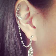 awesome cartilage earrings awesome favim ear piercings images jewelry collection ideas