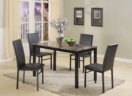 five piece dining room sets aiden black metal 5 pc dining set dining room furniture sets