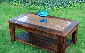 handmade wood coffee table copper coffee table w shelf mosaic tile coffee table rustic