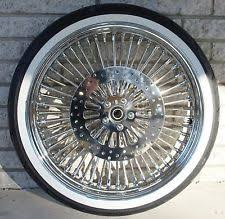Double White Wall Motorcycle Tires Harley Fatboy Wheels Ebay