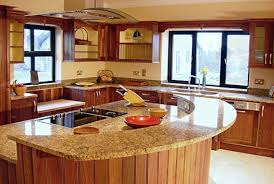 granite kitchen ideas granite countertop half circular design with kitchen ventilation