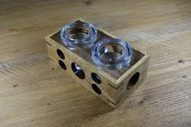 oak wooden tea light holder good in wood