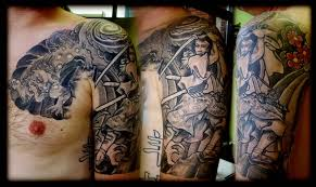 half sleeve tattoo u2013 japanese half sleeve design for men