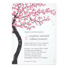 cherry blossom wedding invitations cherry blossom invitations announcements zazzle