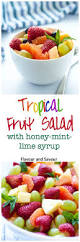 tropical fruit with honey mint lime syrup flavour and savour