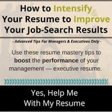 Resume Writing Course for Managers  amp  Executives