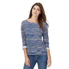 mantaray clothing discount mantaray blue striped print top for women on sale