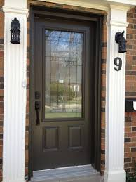 Commercial Exterior Doors by Outdoor Furniture Two Panel Using Black Handle Combined Glass