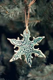 diy lace snowflake ornaments snowflake ornaments ornament and clay