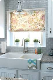 and beauty floral kitchen window treatment ideas