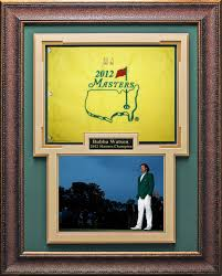 Masters Flag Bubba Watson Signed 2012 Masters Flag Framed Golf And Play Golf