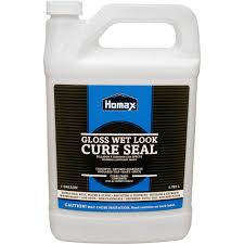 Wet Look Patio Sealer Reviews Homax 1 Gal Wet Look Cure Seal For Concrete 0613 The Home Depot