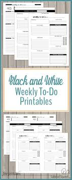 daily planner pdf free black and white weekly to do list printables free planner