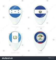 Flag El Salvador Honduras El Salvador Guatemala Belize Flag Stock Vector 402701278