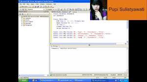membuat query tabel membuat databse dan tabel dengan perintah query di sql server 2005
