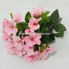 red azalea plastic flower bouquet cheap wholesale artificial