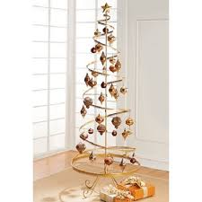 metal tree ornament spiral display holidays gold 89