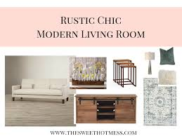 rustic chic modern living room my favorite online home decor