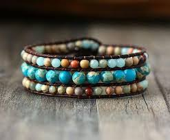 leather wrap bracelet with stones images Handmade stone and leather cuff bracelet simply just bling jpg