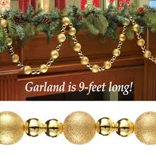 gold ornament garland strand garlands ornament and