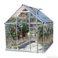 Palram Harmony Greenhouse Palram 6 8 Single Wall Polycarbonate Greenhouse In Alloy Palram