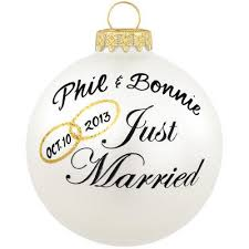 Personalized Ornaments Wedding Personalized Just Married Glass Ornament Personalized Wedding