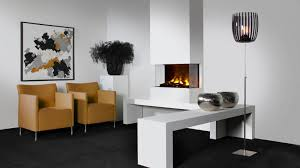 electric fireplace contemporary closed hearth 3 sided 3
