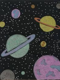 planet drawing fun fun art projects black card and fun art