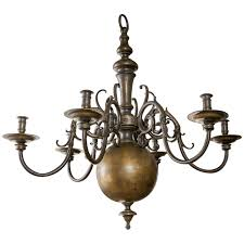 Chandelier Antique Brass Large Dutch Brass Chandelier At 1stdibs