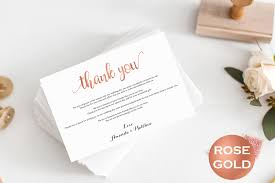 wedding thank you cards table thank you card gold