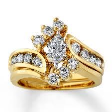marquise cut wedding set wedding rings zales ring enhancer marquise solitaire wedding set