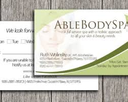 Beauty Spa Business Cards Spa Business Card Etsy