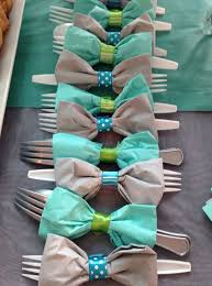 bow tie baby shower ideas bow tie napkins with utensils click pic for 30 diy baby shower