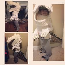 dinosaur costume handmade for halloween honeysuckle footprints
