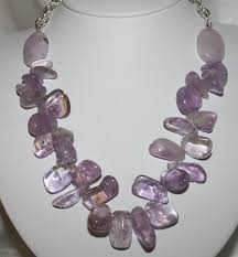 necklace with purple stone images Chunky amethyst nugget statement necklace by 123gemstones on zibbet jpg