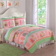 Owl Bedding For Girls by Girls U0027 Twin Quilt Sets