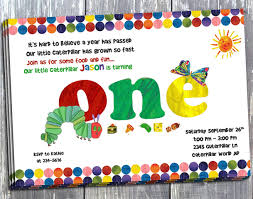 little hungry caterpillar birthday invitation printed