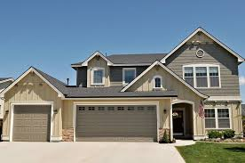 Exterior Paint Color Schemes Gallery - grey wall eterior paint combinations with garage door can add the