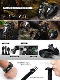 fire survival bracelet images Aootech paracord bracelet kit outdoor survival jpg