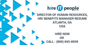 Human Resource Director Resume Director Of Human Resources Hr Benefits Manager Resume Atlanta