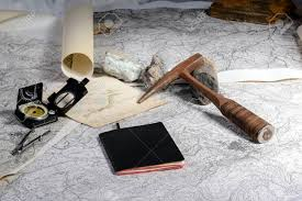 Study Of Maps The Geological Expedition Is Prepared With The Study Of