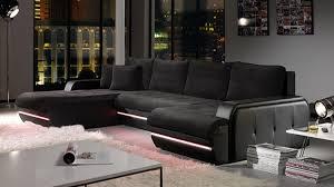 canapé galaxy galaxy canapé d angle design noir gauche docks du meuble